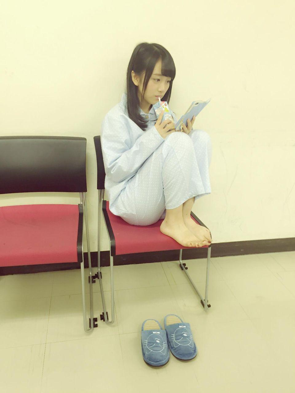 mukaichi mion sits down