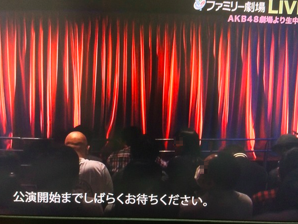 bald guy at akb48 theater performance